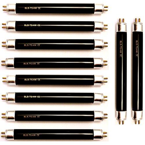 10 x T5 DuraBulb F4 BLB billets Ampoule UV Détecteur de faux billets Blacklight UV Tube de 6