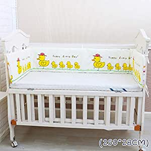 Amazon.com: Cot Bed Bumper - Almohadillas para cuna de bebé ...