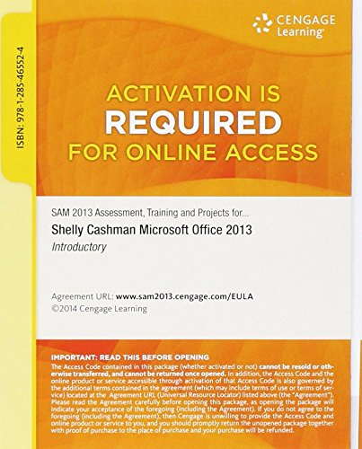 Training, and Projects with MindTap Reader  v3.0 Multi-Term Printed Access Card for Microsoft Office 2013: Introductory ()