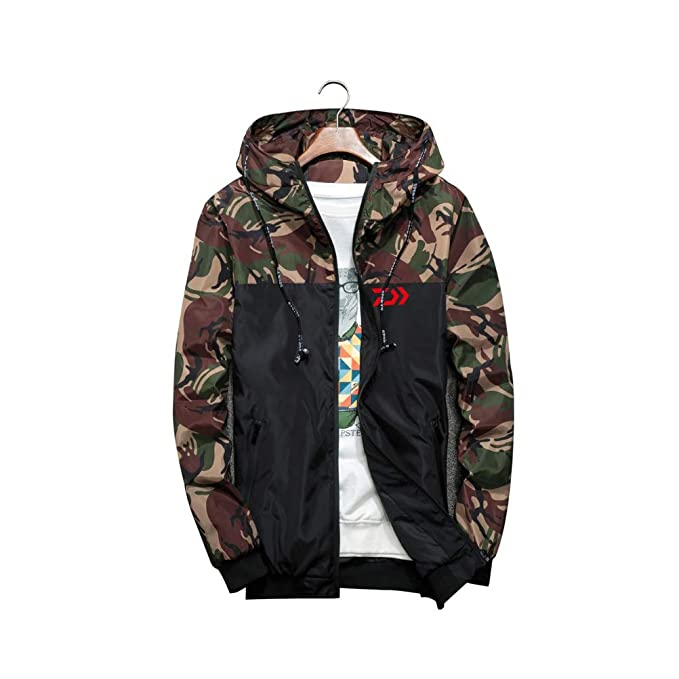 d64d0d2097d72 YOTONG Men's Camouflage Bomber Jacket Hoodies Zip Military Hooded Coat  Windbreaker Outwear Slim Fit Style1 Army