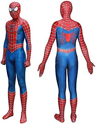 Seven Plus SpiderMan Lycra Spandex Zentai Halloween Cosplay Adult Costume