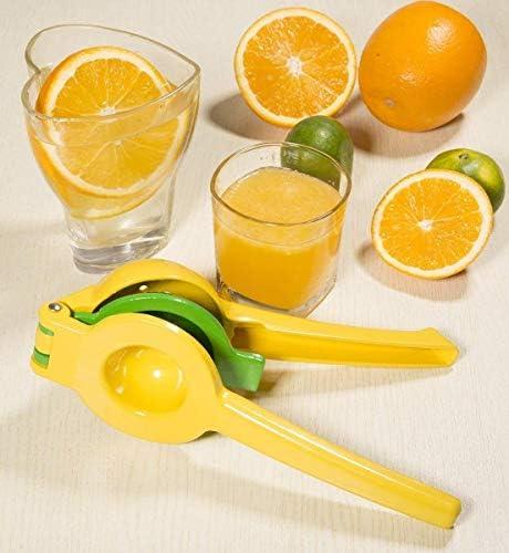 Mettime Exprimidor de limón y Lima, Exprimidor Manual de Limones Multifuncional con Clip de Metal exprimidor de Frutas 2 en 1 Cuchara Manual de aleación de Aluminio