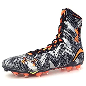 Under Armour Highlight MC Lacrosse Football Cleats Shoes Mens Size 10.5 Black Silver Orange