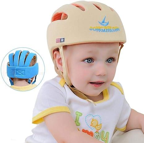 Baby Kids For Walking Crawl Adjustable Safety Helmet Walk Learning Protector Hat