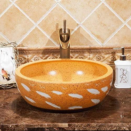 バスルームセラミックシンク洗面カウンタートップ磁器容器シンクセラミック洗面台のバスルームシンク