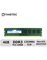 Timetec Hynix IC DDR3 1333MHz PC3-10600 Unbuffered Non-ECC 1.5V CL9 2Rx8 Dual Rank 240 Pin UDIMM PC Sobremesa Memoria Principal Module Upgrade
