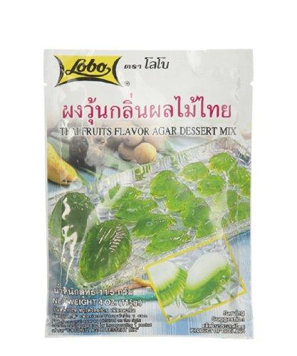 Lobo ,Agar Jelly Powder Dessert Mix Thai Fruits Flavor - 4 Ounces (Pack of 6) by Lobo