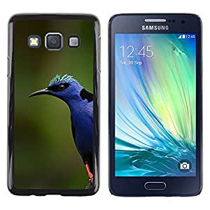 FlareStar Colour Printing Blue Bird Colorful Nature Spring Summer cáscara Funda Case Caso de plástico para Samsung Galaxy A3 / SM-A300