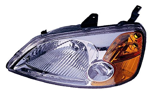 Depo 317-1119L-AS Honda Civic Driver Side Replacement Headlight (Honda Civic Headlight Lh Driver)