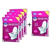 GoHygiene! Travel Pack of 4 PACKS (40pcs) + 1 FREE PACK! - Disposable Toilet Seat Covers