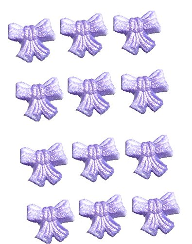 12pk Edible Shimmer Purple Lavendar Bows
