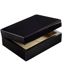 Amazoncom Tizo Designs Burl Ebony Jewelry Box With Removable