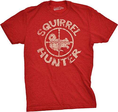 Crazy Dog TShirts - Squirrel Hunter T Shirt Funny Hunting Shirt Squirrels Tee (Red) S - herren - S