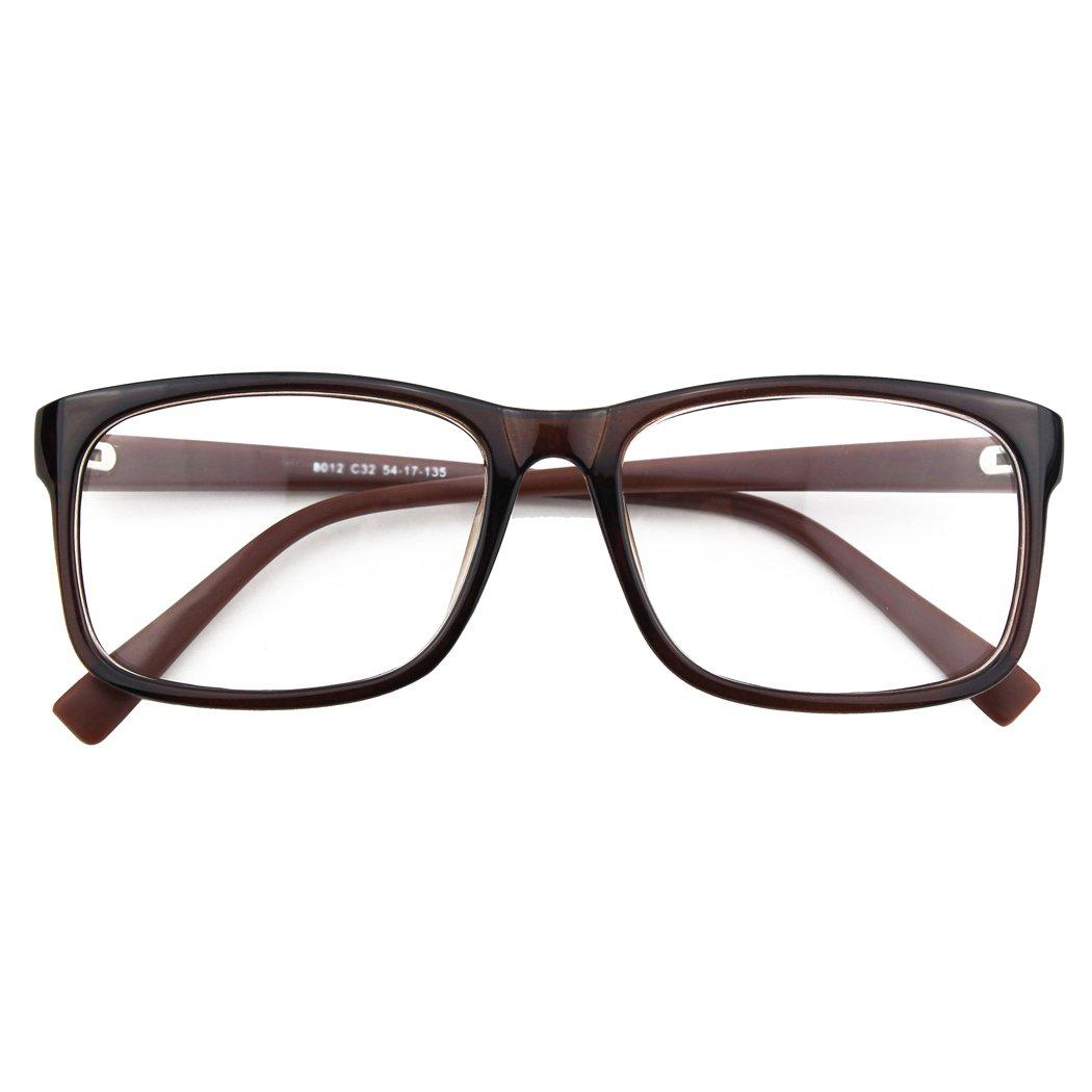 CGID CN12 Casual Fashion Basic Square Frame Clear Lens Eye Glasses Black Rose FBA8012b-03