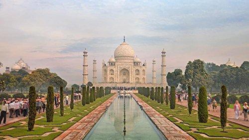 Wallmonkeys Taj Mahal Peel and Stick Wall Decals WM362636 (48 in W x 27 in H)