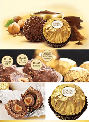 Large Product Image of Chocolate Assorted Ferrero Rocher Fine Hazelnut Chocolates, Flat 48 Count, 21.2 oz. (48 Count)