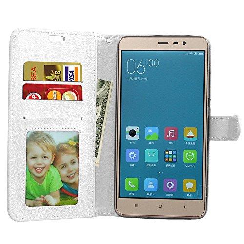 pro Etui Portefeuille cadre 3 Pochette Xiaomi Aimant Laybomo Note Cover Photo Doux Protecteur Pour Pu Cuir Blanc Coque Tpu noir Housse Redmi FTAWTvPXcy