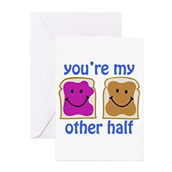 Amazon Cafepress Youre My Other Half Greeting Card Note