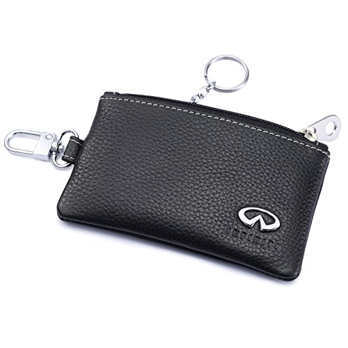 der Remote Cover Fob with 1 Metal Keychain - Genuine Leather ()