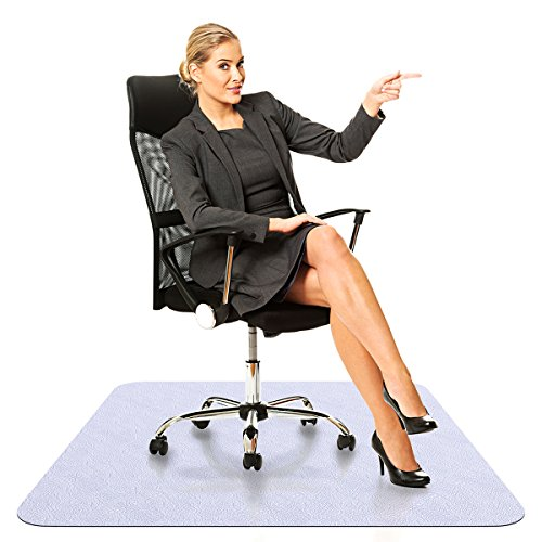 Office Chair Mat for Hardwood Floors - 35x47 inches Heavy Duty Non-Skid Desk Chair Mat, Multi-Purpose Floor Protector in Neutral Gray Color for Office or Home Use