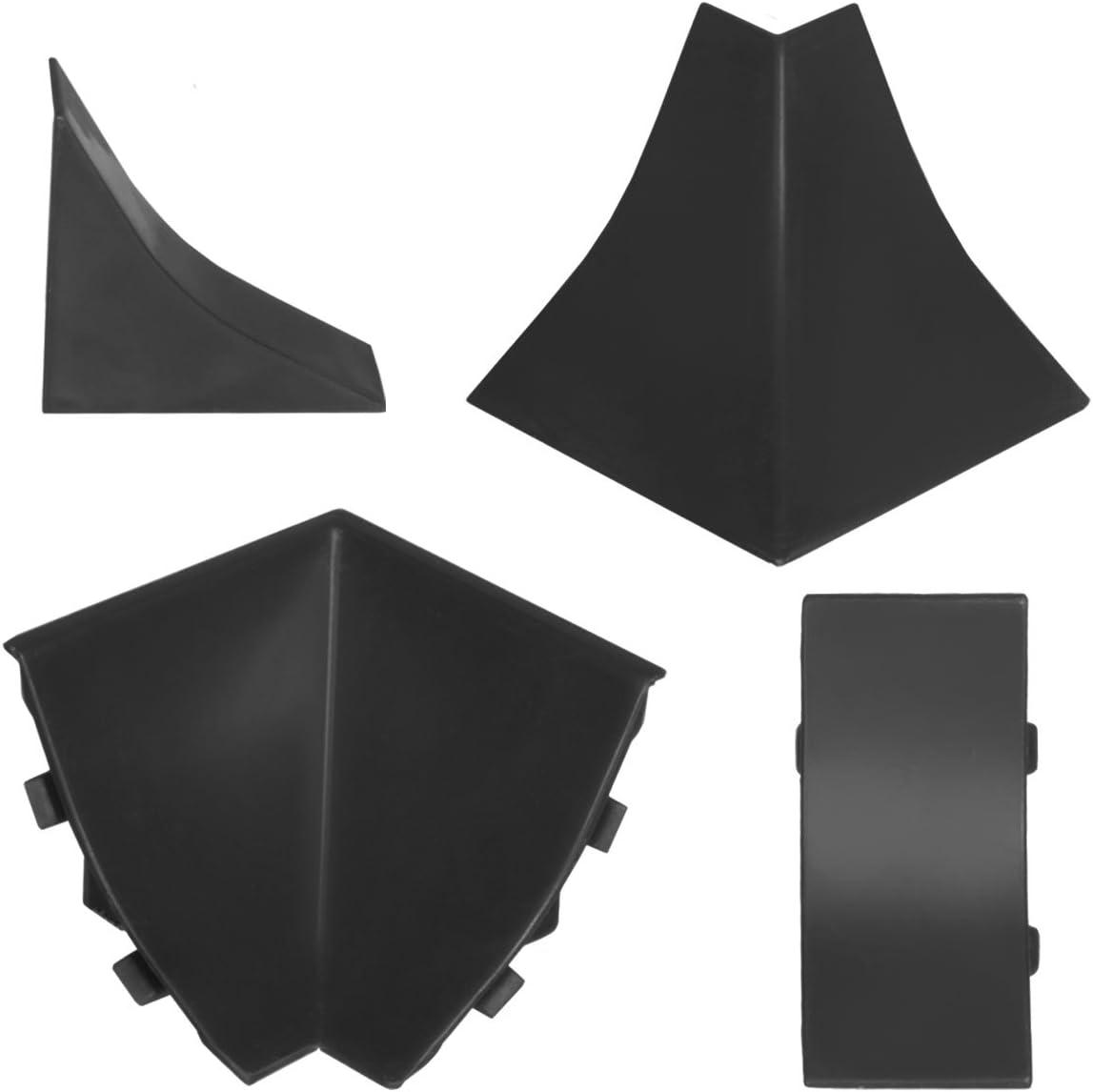 HOLZBRINK Plinthe de Comptoir de Cuisine 23x23 mm 150 cm Noire de Finition PVC Finition du Comptoir de Cuisine