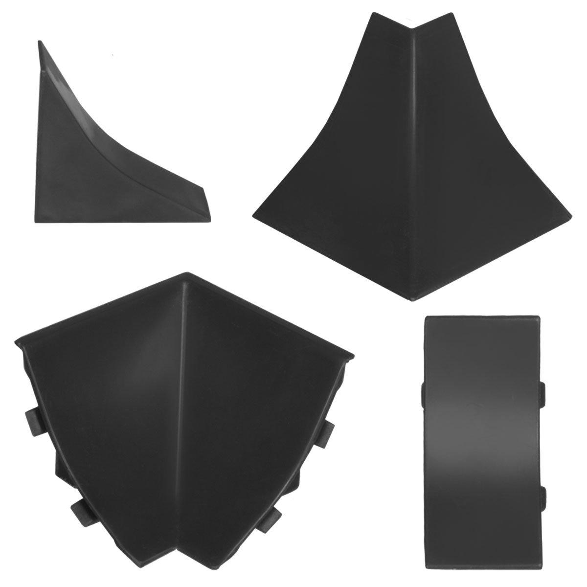 HOLZBRINK Au/ßenecke passend zum Dekor Ihrer Abschlussleisten Vollaluminium Au/ßenkante PVC K/üchenabschlussleiste 23x23 mm