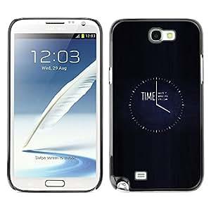 SAMSUNG Galaxy Note 2 II / N7100 , Radio-Star - Cáscara Funda Case Caso De Plástico (Time - Waste It)