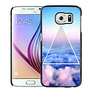New Fashion Custom Designed Cover Case For Samsung Galaxy S6 With Nebula Galaxy Space Black Phone Case
