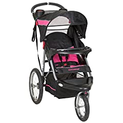 The Expedition Jogging Stroller features large bicycle tires and a front swivel wheel that can be unlocked for low speed maneuvering or locked into place for jogging. Stroller also can accept any of the Baby Trend Flex-Loc or Inertia Infant C...