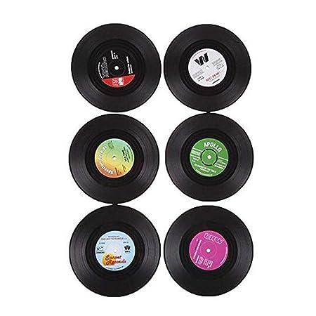 6 posavasos portavasos para bebidas, mantel redondo, forma de CD ...
