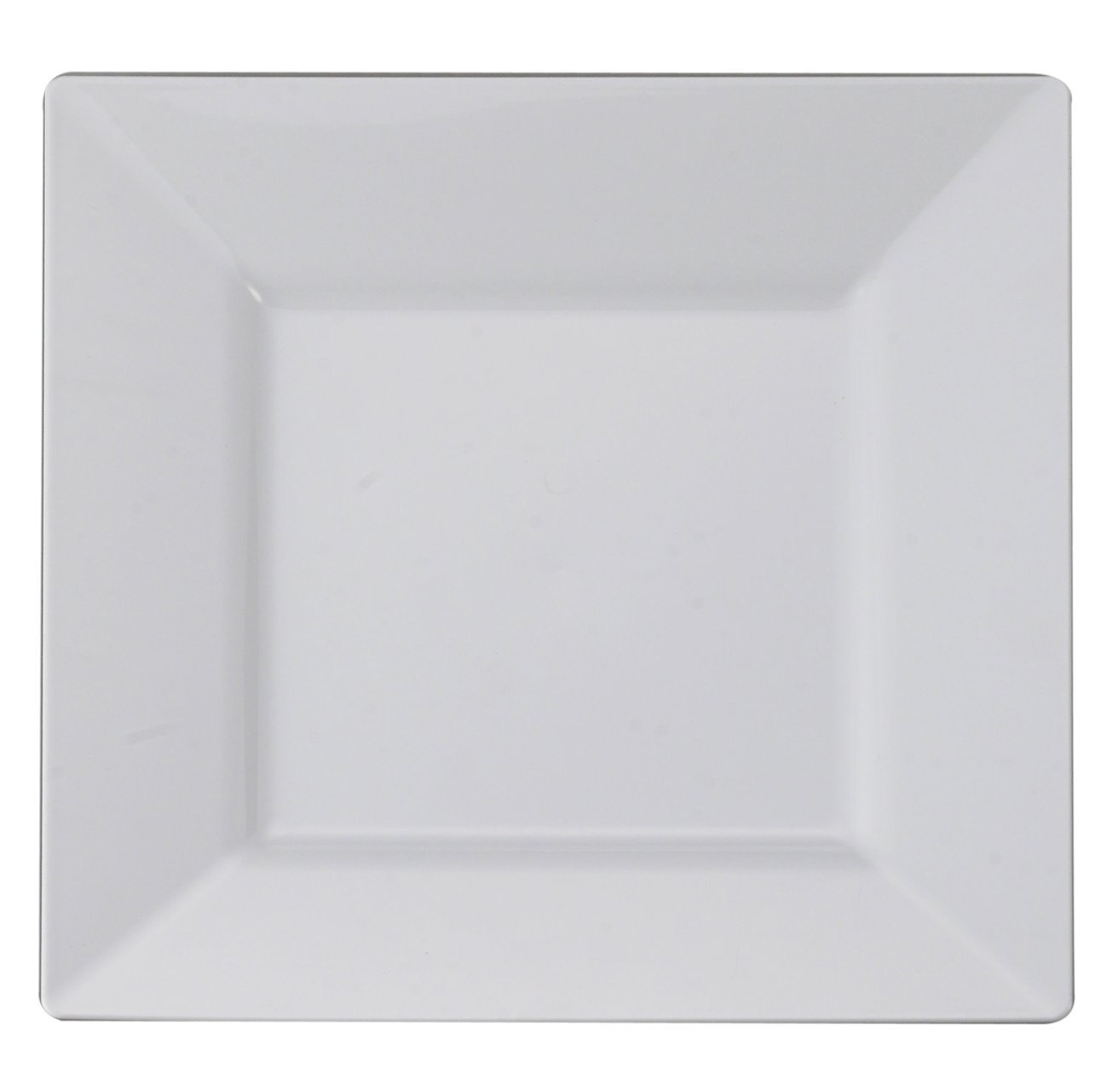 Kaya Collection - White Plastic Square 6.5'' Salad/Dessert Plates - Disposable or Reusable - 2 Pack (20 Plates)