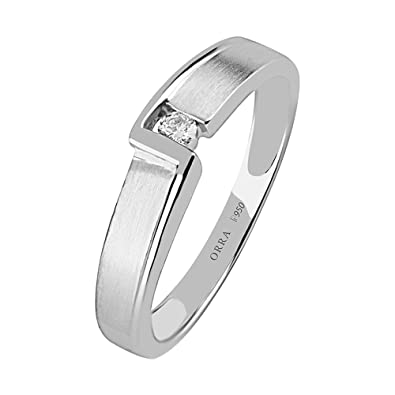 d4170395626 Buy ORRA Couple Collection 950 Platinum Diamond Ring Online at Low Prices  in India