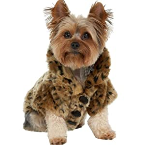 WISHLAND Pet Clothes for Large Dogs, Costume Clothing Dog Puppy Hoodies Coat Winter Sweatshirt Warm Sweater Leopard