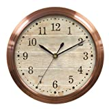 Chaney Instruments 10-Inch Accadia Copper Finish Wall Clock