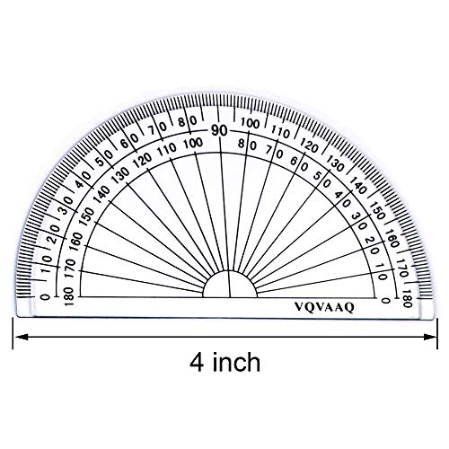 7 Piece Geometry School Set,with Quality Compass, Linear Ruler, Set Squares, Protractor, by XiangLv (Image #5)