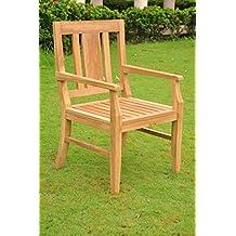 Grade-A Teak Wood Arm / Captain Dining Chair [Model: Osborne] #WFDCAROS