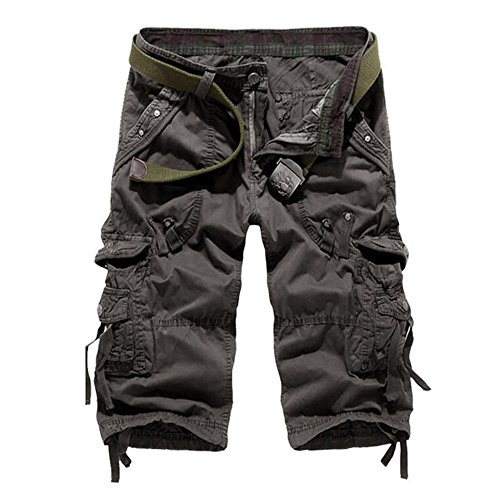 - JEEPER Men's Loose Fit Cargo Shorts with Multi-Pockets(No Belt)