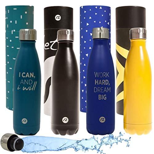 Sternitz Botella de Agua Hydra Acero Inoxidable con Aislamiento al vacio Mantiene Tus Bebidas frias por 24 Horas y Calientes por 12 Horas Water Bottle (Negro Original)