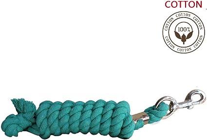 LJQ 100% Algodón Riendas para Caballos Riendas De Caballo Cuerda De Plomo para Caballos Diseños Remolque De Plomo Cuerda De Corbata Caballo,Blue-4meters: Amazon.es: Hogar