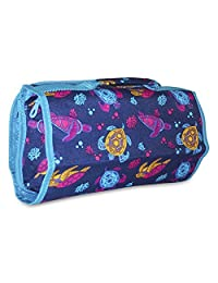 Ever Moda Hanging Toiletry Bag, Blue Sea Turtle Print (25-inch)