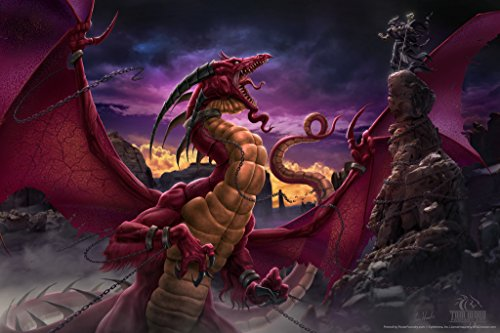 Unleashed Dragon Battle Tom Wood Fantasy Art Poster 12x18 (Tom Wood Dragon compare prices)