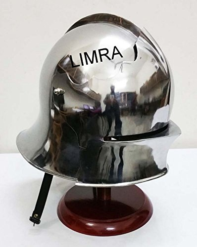 COLLECTIBLE ARMOUR GOTHIC HELMET BRASS FINISH HALLOWEEN GIFT by classical.gift.export