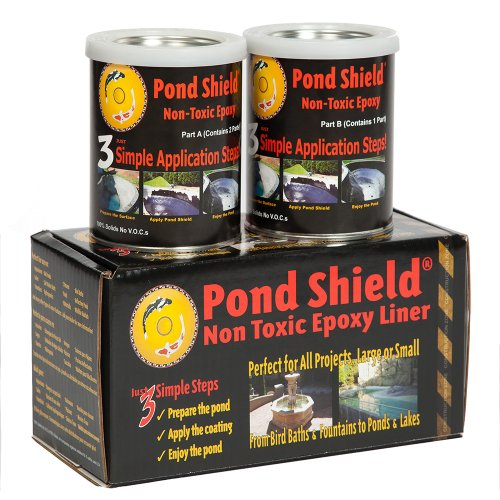 Pond Armor SKU-BLACK-QT-R Non Toxic Pond Shield Epoxy Paint, 1.5-Quart, Black
