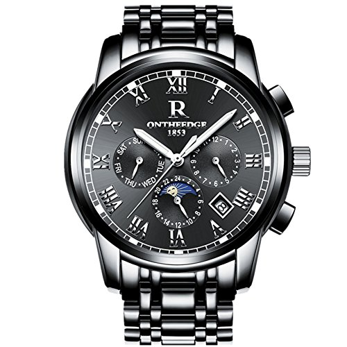 (Mens Swiss Automatic Movement Watches,Stainless Steel Waterproof Wrist Watch)