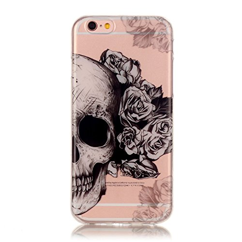 iPhone 7 Plus Case, Firefish Ultra Slim Soft Flexible TPU Clear Case Anti-Slip [Shock Absorption] Scratch-Resistant Protect for Apple iPhone 7 Plus - Flower (Halloween Funny Cover Photo)