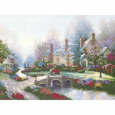 Thomas Kinkade Beyond Spring Gate (Thomas Kinkade Beyond Spring Gate Embellished Cross Stitch K-12X16 Printed)