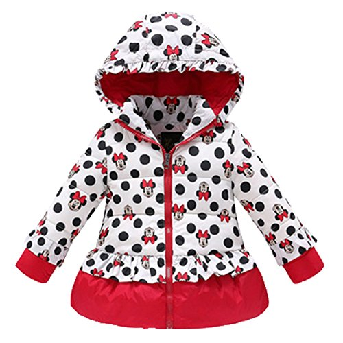 Ohmais Unisex Jungen Mädchen Winter Down Jacket verdickte Winterjacke Jungen Mantel verdickte Trenchcoat Jungen Outerwear mit Kapuzen Rot WsGZg40