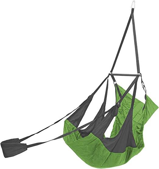 Amazon Com Eagles Nest Outfitters Eno Airpod Hanging Chair Hanging Lounge Chair Charcoal Lime Sports Outdoors