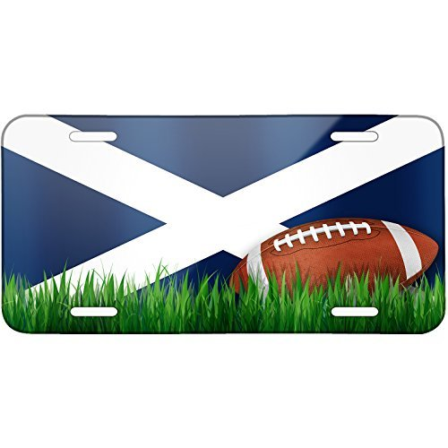 Football with Flag Tenerife region Spain Metal License Plate 6X12 Inch by Saniwa