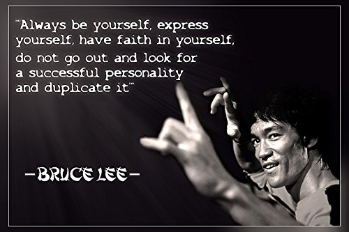 bruce lee motivational quote poster print 12 x 18